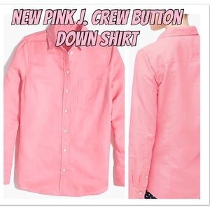 New Pink J. Crew Button Down Top